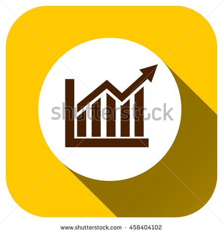 Statistics vector icon, Graph symbol for your design, logo, application, UI, website - stock vector