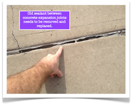 Concrete Expansion Joints Remove Old Sealant Expansion Joint Repair Cracked Concrete Concrete