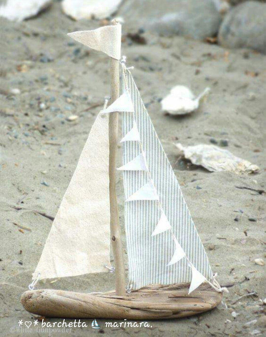 Barchetta Marinara Idee Estive Decorazione Di Mare Artigianato Da Spiaggia