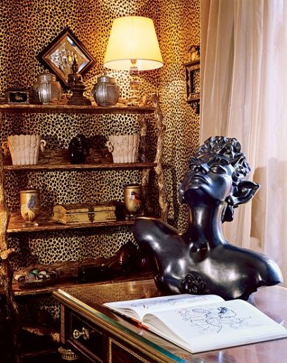 JeanPaul Beaujard, his Paris duplex. Decor, Leopard
