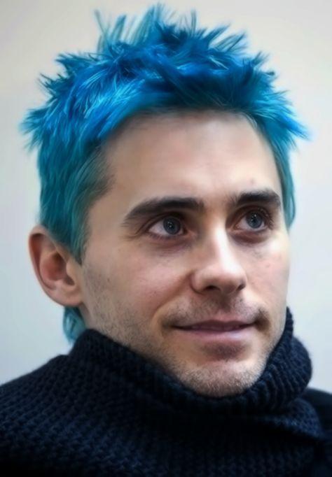love electric blue hair