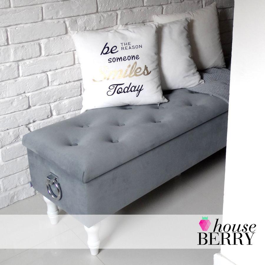 Skrzynia Pikowana 2x Kolatka Otwierana Schowek Siedzisko Amore Plusz Glamour Home Chaise Lounge Lounge