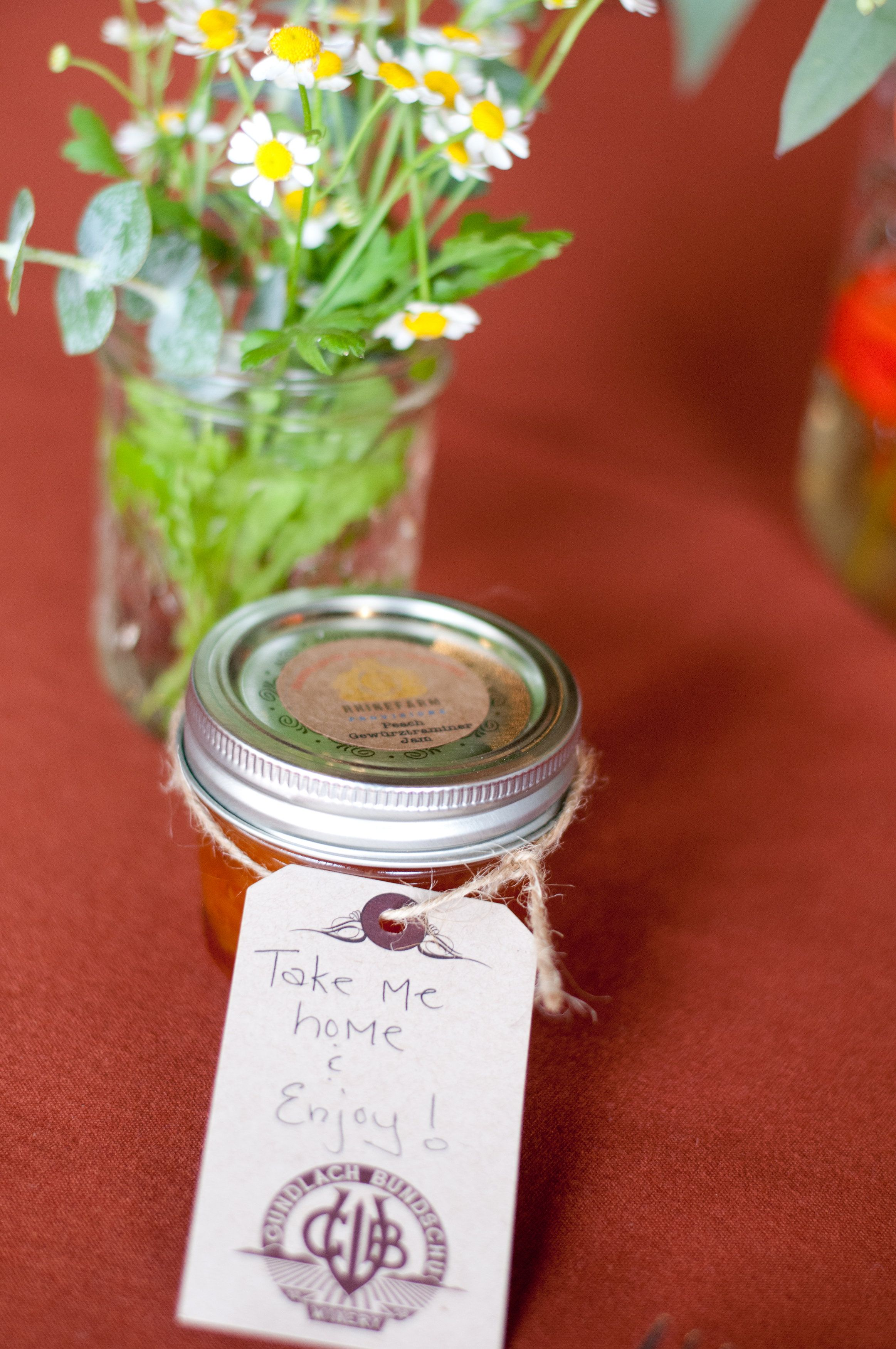 Homemade jam party favors by rhinefarm provisions