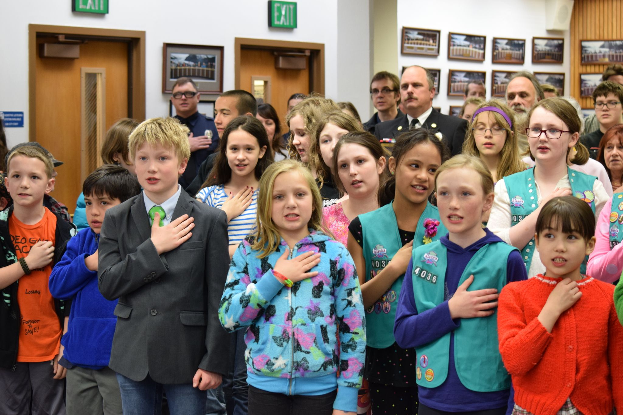 Several Juneau School Kids Attended Mondays Assembly Meeting To