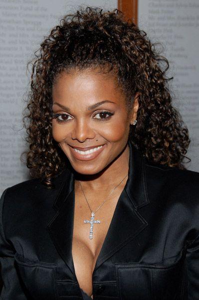 Janet Jackson Curly Hair Styles Janet Jackson Hair Styles