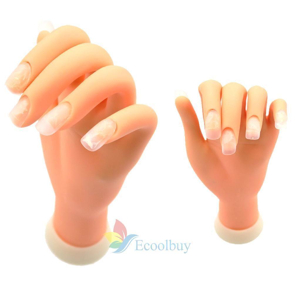 Adjustable Practice Nail Art Tips Trainer Training Fake Finger Model