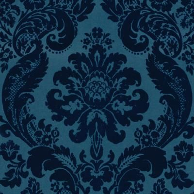 A Street Prints Shadow Blue Damask Paper Strippable Roll Wallpaper Covers 56 4 Sq Ft 2763 87310 The Home Depot Damask Wallpaper Velvet Wallpaper Damask Pattern