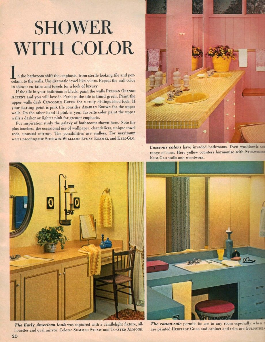 Best Kitchen Gallery: Hippie Decor More 1960s Interior Design Ideas 15 Pages Of Rooms of Bathroom Design Magazines  on rachelxblog.com