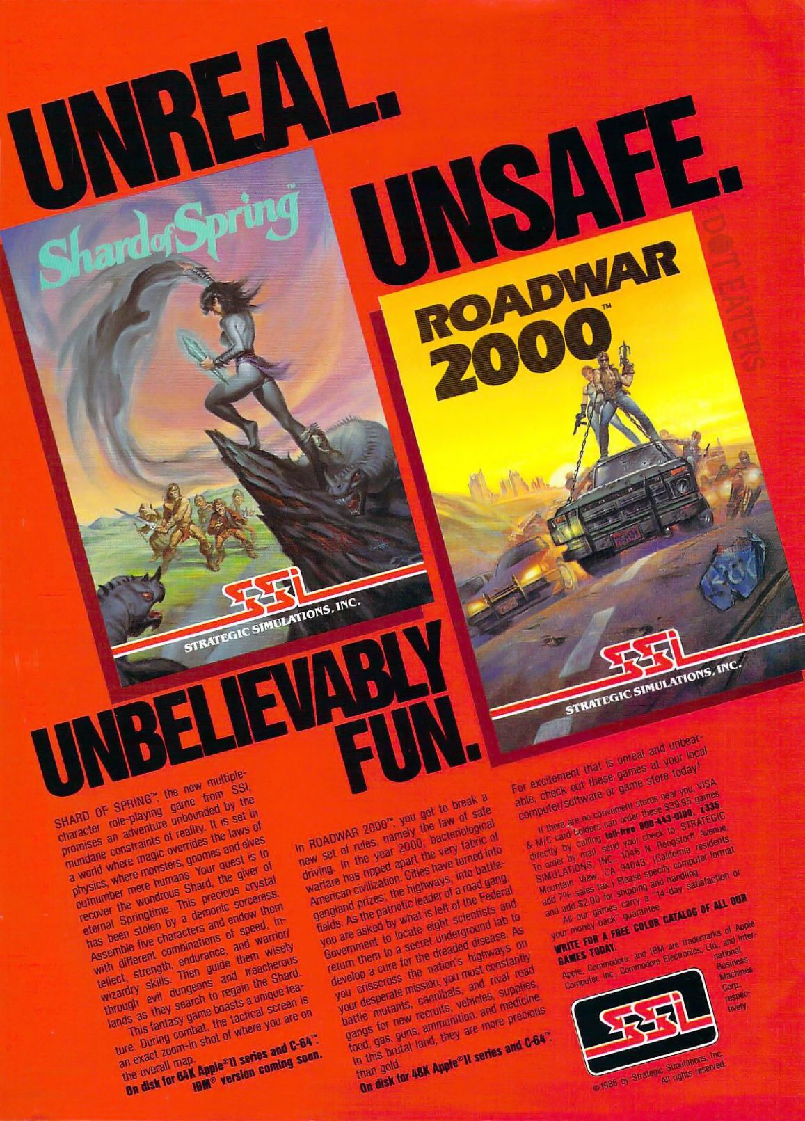 Unreal and unsafe at any speed (1986). retrogaming
