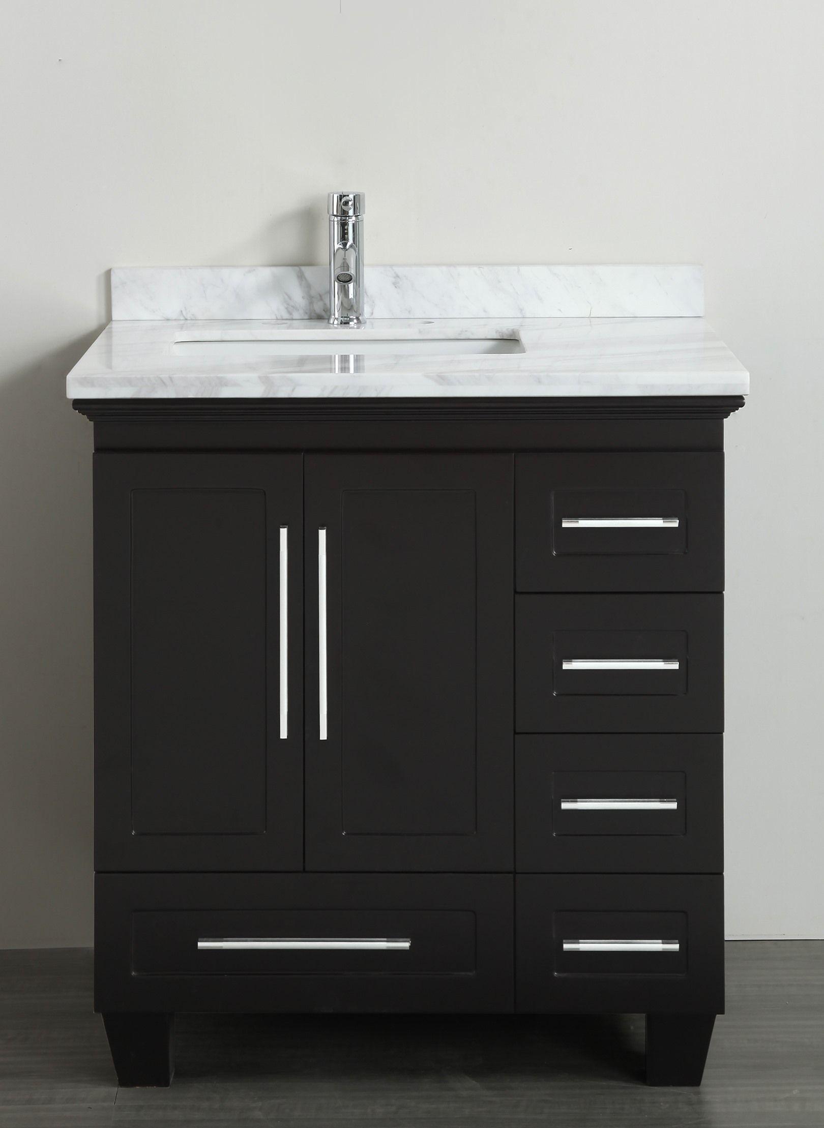 30 Bathroom Vanity With Marble Top accanto contemporary 30 inch espresso finish bathroom vanity