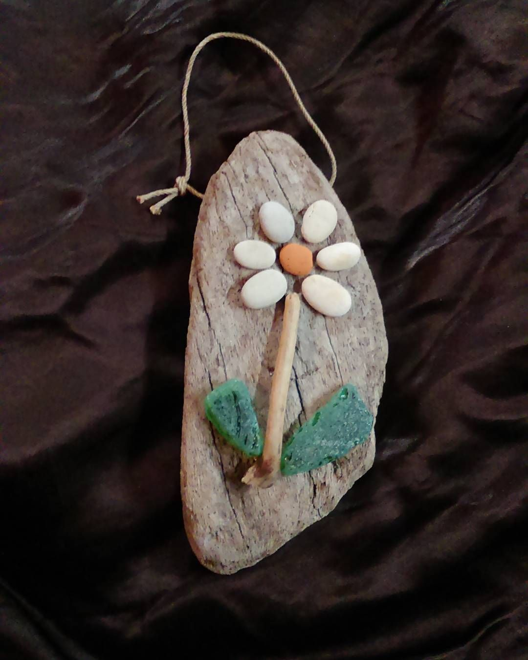 A small gift to one nice person #AGartdriftwood #wallart #driftwoodart #seaglass #pebbleart #fromcroatiawithlove #oneofakind #naturalart