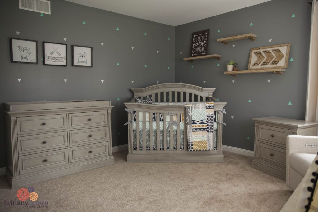 Beautiful Gender Neutral Tribal Aztec Nursery Baby Room Neutral
