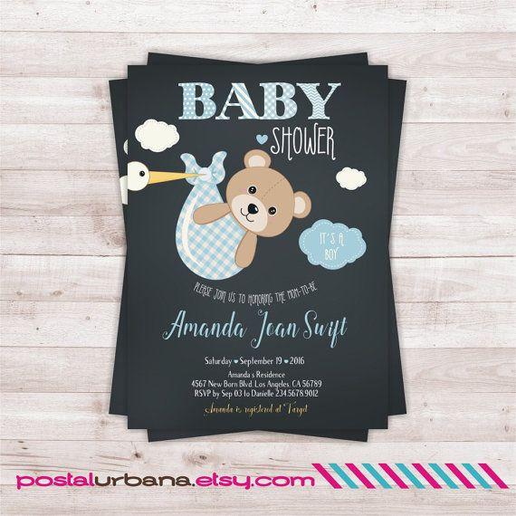 He Encontrado Este Interesante Anuncio De Etsy En Https Www Etsy Com Es L Baby Shower Invitations For Boys Baby Bear Baby Shower Bear Baby Shower Invitations