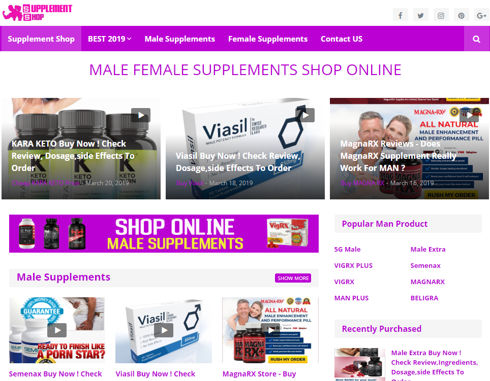 Buy  Male Enhancement Pills Magna RX Deals Under 500