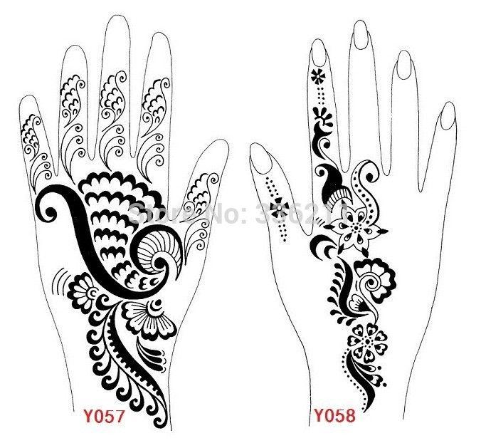 plantillas para tatuajes de henna para manos - Buscar con Google ...