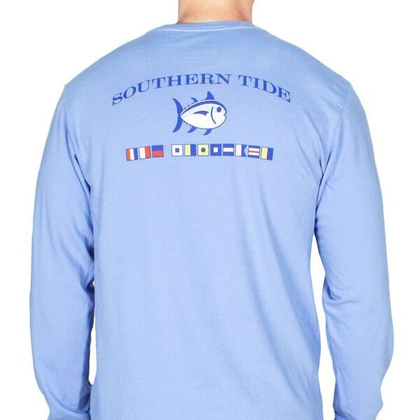 Long Sleeve CCP Nautical Flags Tee Shirt in Cool Water by Southern ...