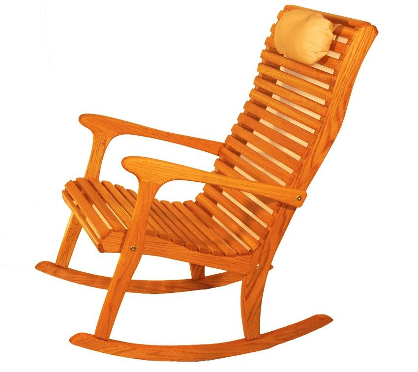 Classic High Back Outdoor Rocking Chair Constructed With