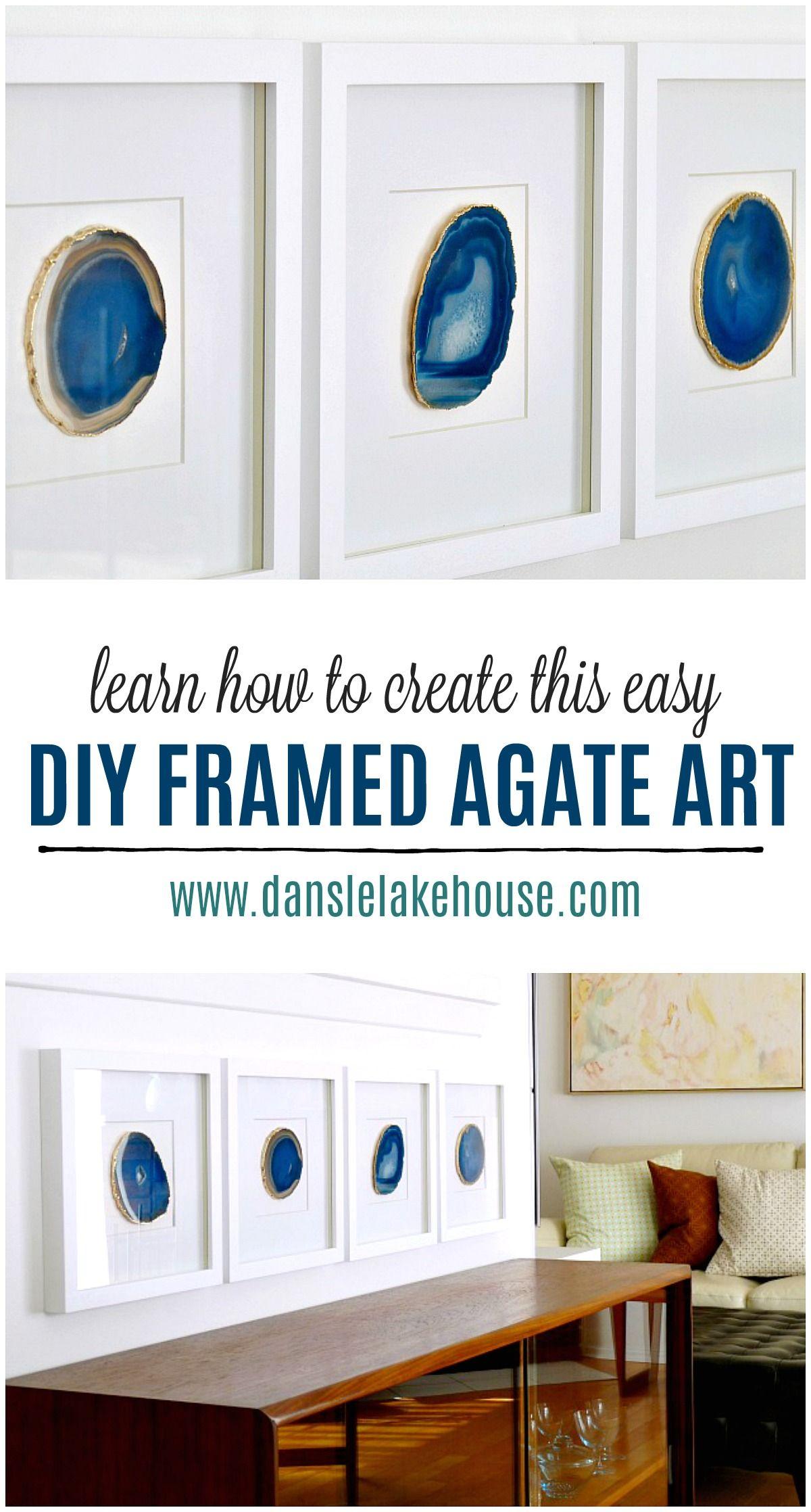 diy agate art framed blue agate slices dans le lakehouse.htm diy agate art framed agate slices diy artwork  diy wall art  diy wall art