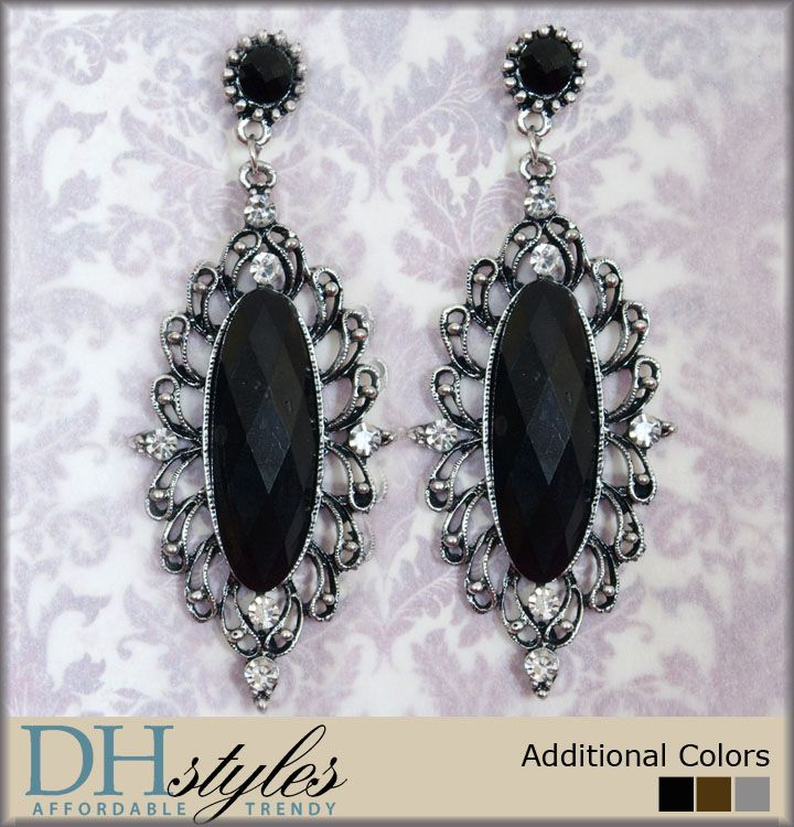 DHStyles Women's Decadent Style Rhinestone Metal Oval Earrings - Black-Brown #sexytops #clubclothes #sexydresses #fashionablesexydress #sexyshirts #sexyclothes #cocktaildresses #clubwear #cheapsexydresses #clubdresses #cheaptops #partytops #partydress #haltertops #cocktaildresses #partydresses #minidress #nightclubclothes #hotfashion #juniorsclothing #cocktaildress #glamclothing #sexytop #womensclothes #clubbingclothes #juniorsclothes #juniorclothes #trendyclothing #minidresses…