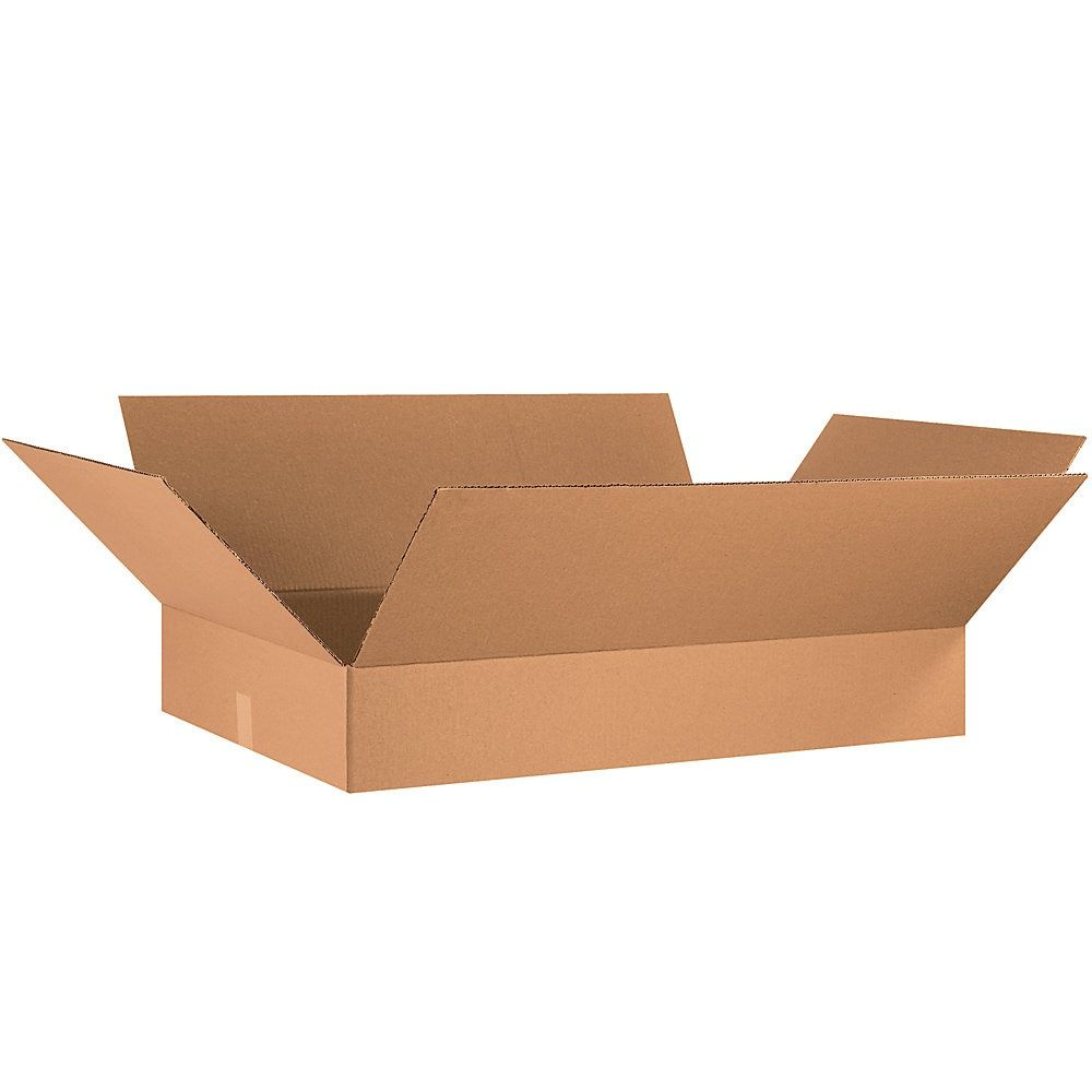 Office Depot Brand Flat Corrugated Boxes 6 H X 21 W X 34 D Kraft