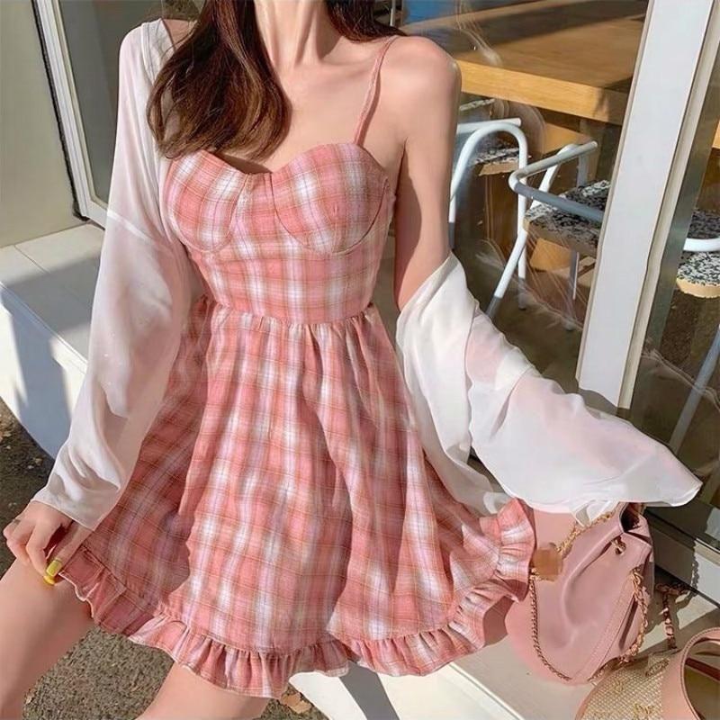 37+ Pink plaid dress ideas