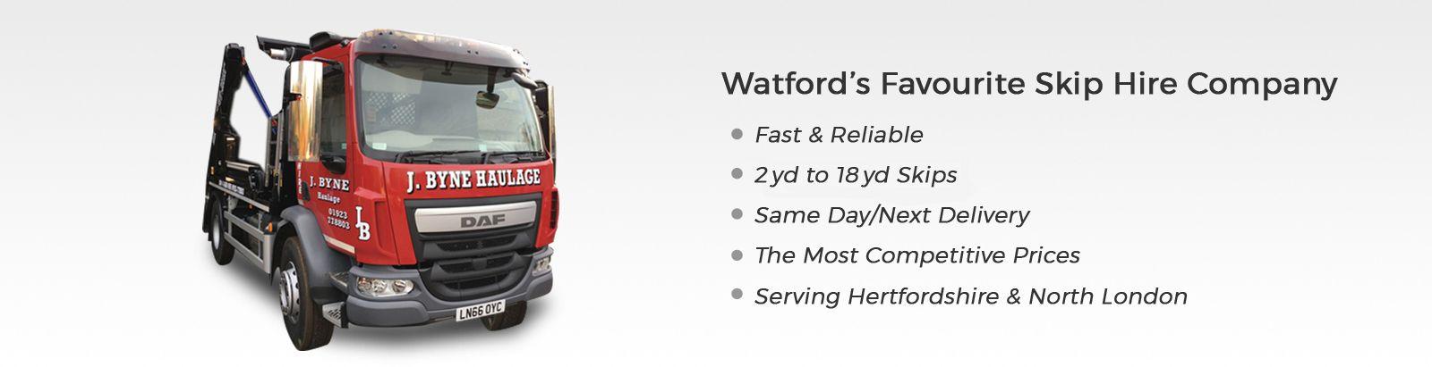 Skip Hire Watford J Byne Haulage Ltd Is A Registered Waste