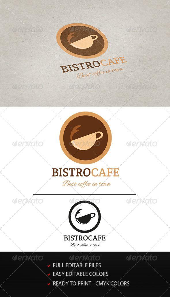 CafeBistro Logo #GraphicRiver Logo for all coffe shops  Included 2