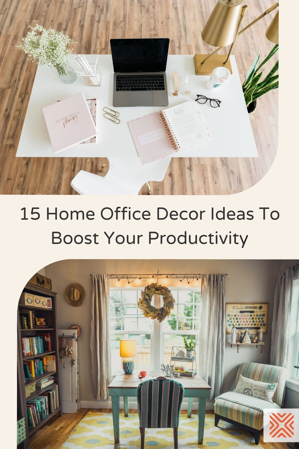 Thinking about setting up a home office? We got 15 gorgeous home office decor ideas that will inspire your creativity and also help organize your work. Check them out, and start decorating your home office.