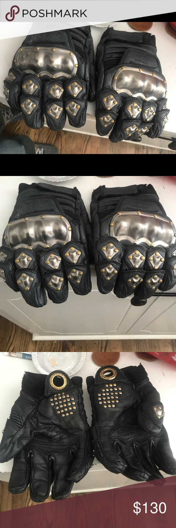 iCON motorcycle leather gloves Leather gloves