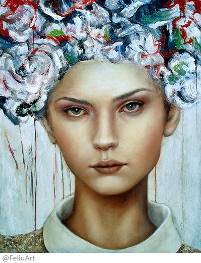 Valeria Feliú - My head is a jungle – oil painting