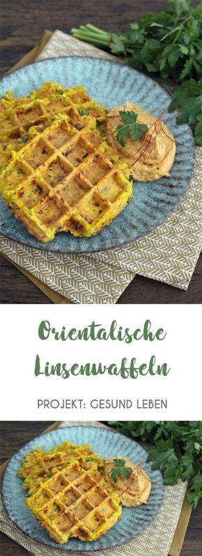 Rezept: Orientalische Linsenwaffeln Zuckerfrei-Challenge Phase 1 – Projekt: Gesund leben – Carey&CleanEatingS