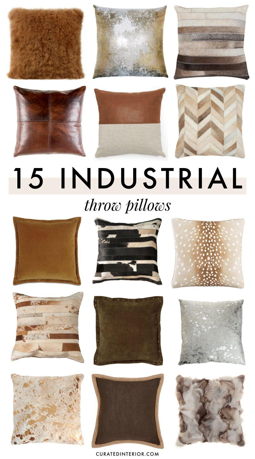 15 industrial throw pillows for an urban vibe warm home decor throw pillow styling industrial throws
