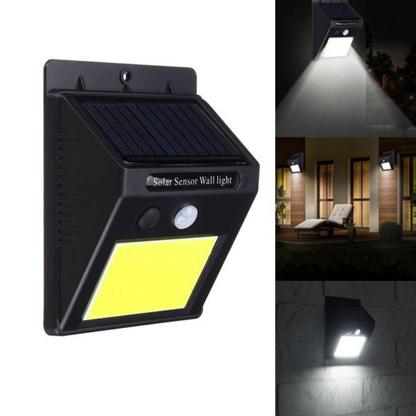 48LED Solar Power Wall Mount Outdoor PIR Motion Sensor Garden Yard Lights Lamps