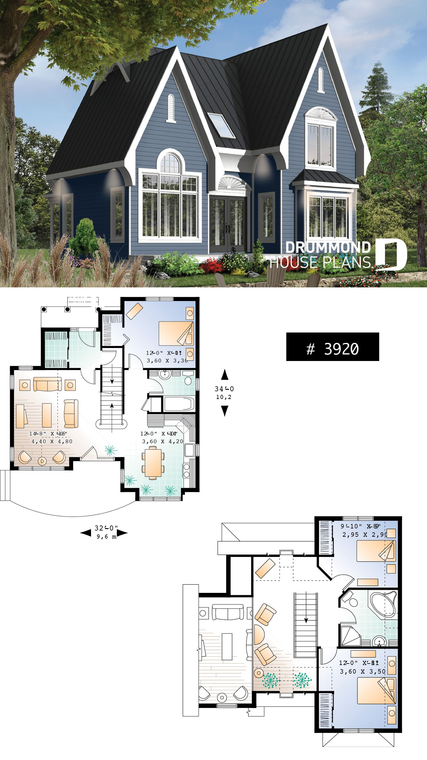 Discover The Plan 3920 Levis Which Will Please You For Its 3 Bedrooms And For Its Tudor Styles Victorian House Plans Cottage House Plans House Plans