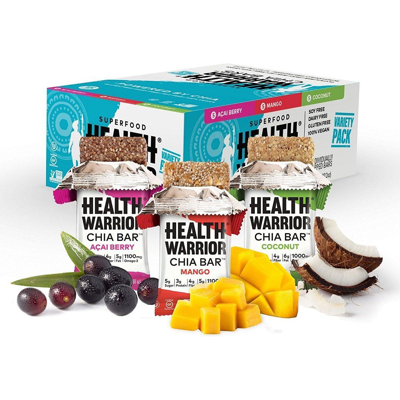 Health warrior chia bars tropical variety pack gluten