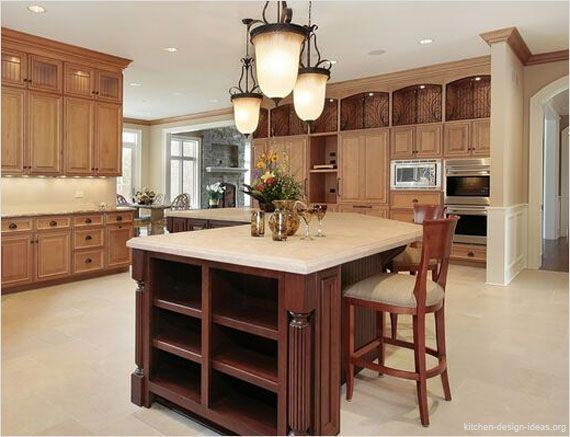 Kitchen Island Different Color Than Cabinets traditional light wood kitchen cabinets #103 (kitchen-design-ideas