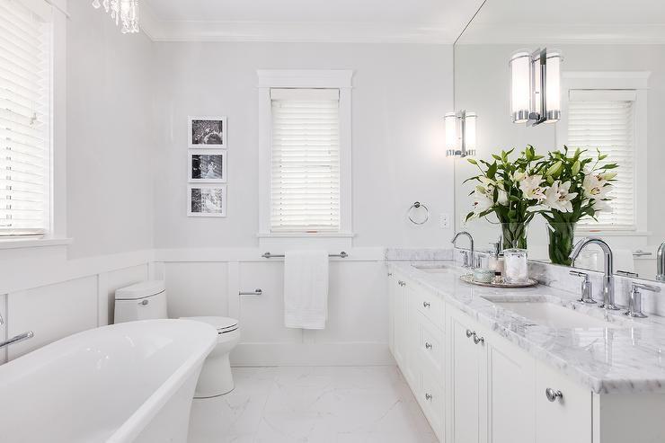 Benjamin Moore Horizon Gray Bathroom Gray Bathroom Decor Master Bathroom Bathrooms Remodel