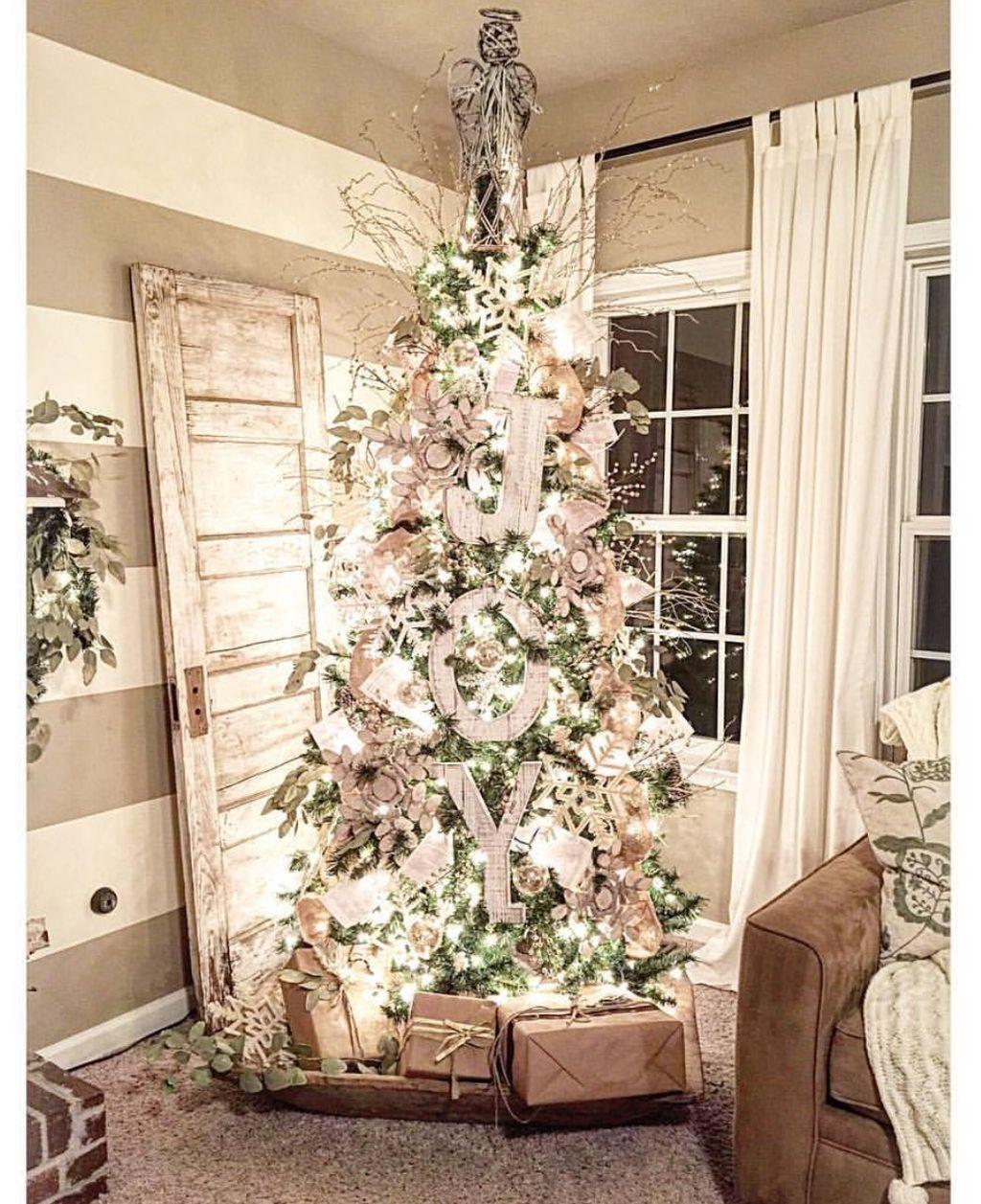 49 inspiring rustic christmas tree decoration ideas for - Decoracion navidena rustica ...