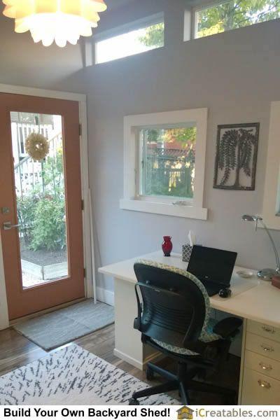 Modern art studio shed interior desk sheds Pinterest Modern