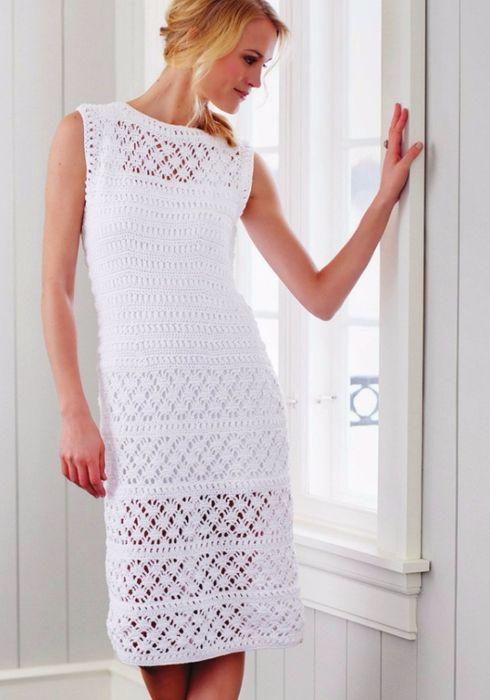 e (490x700, 277KB)   vestidos crochet lll   Pinterest   Costura y ...