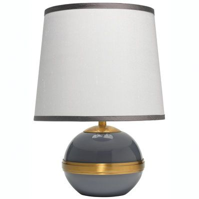 Modern Brass Banded Accent Table Lamp Table Lamp Shades Small Table Lamp Table Lamp