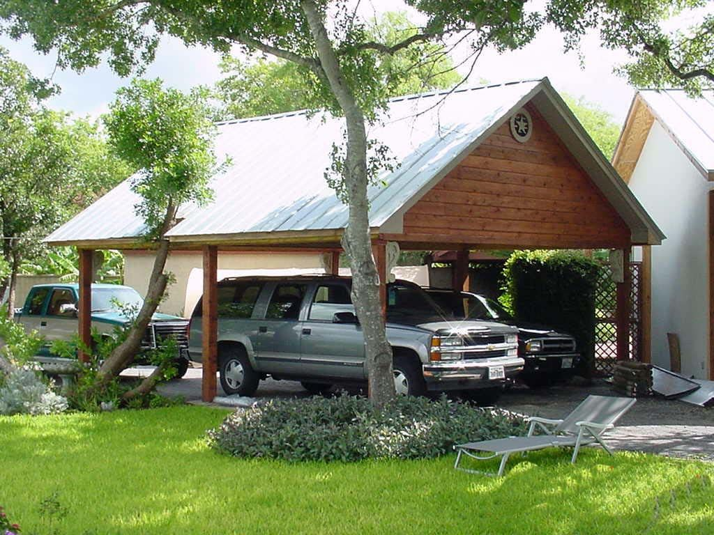 Two Car Carport 6 X 6 Cedar Support Posts With Full Ceiling Carport Designs House House Styles