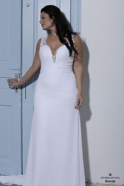 Plus size wedding gown-Blue (1)Blenda (2) | Beach ceremony ...
