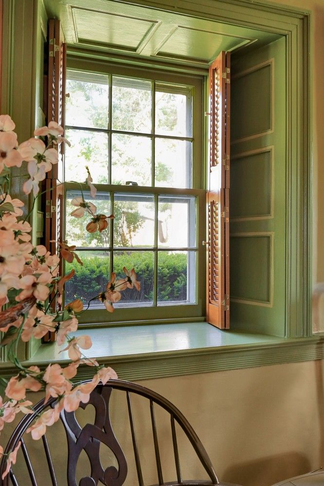 Deep Windows With Shutters Window Historic Homes Treatments
