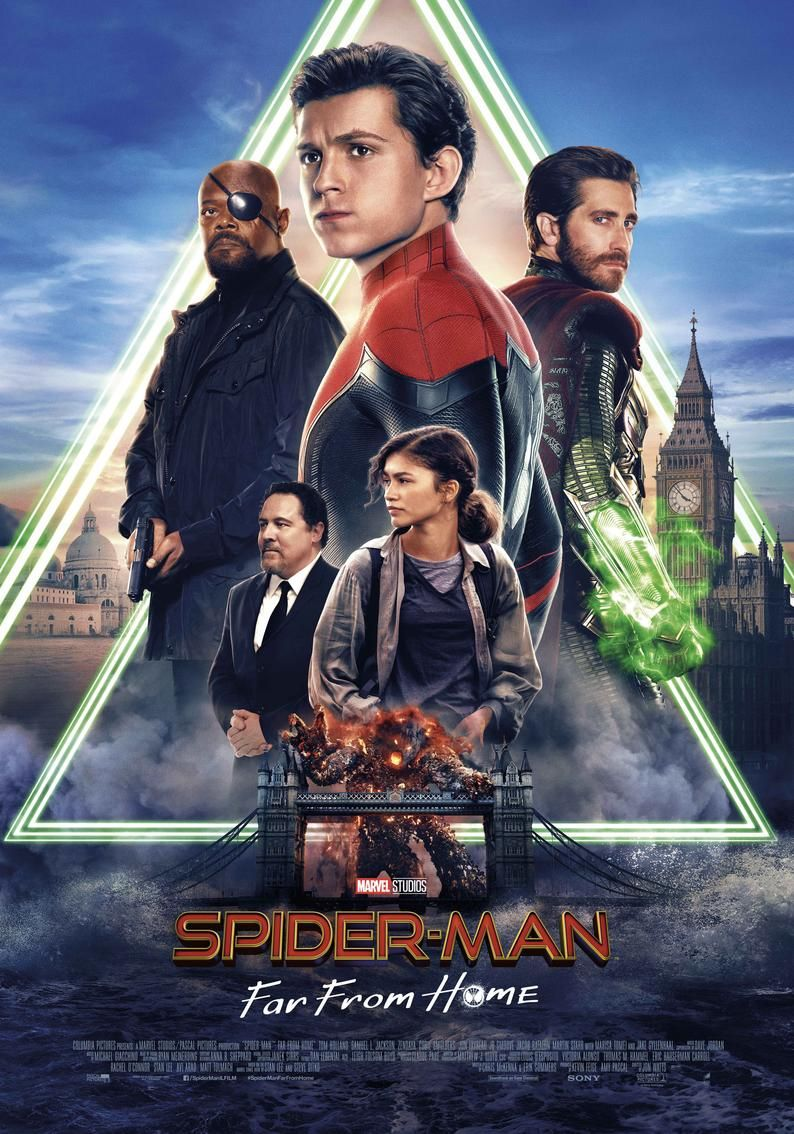 Spider-Man Far from Home Movie Poster Print Photo Wall Art Glossy High Quality 8x10 11x17 16x20 22x2