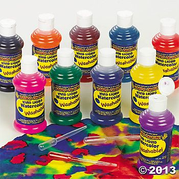 Washable Liquid Watercolor Set Kids Art Supplies Liquid