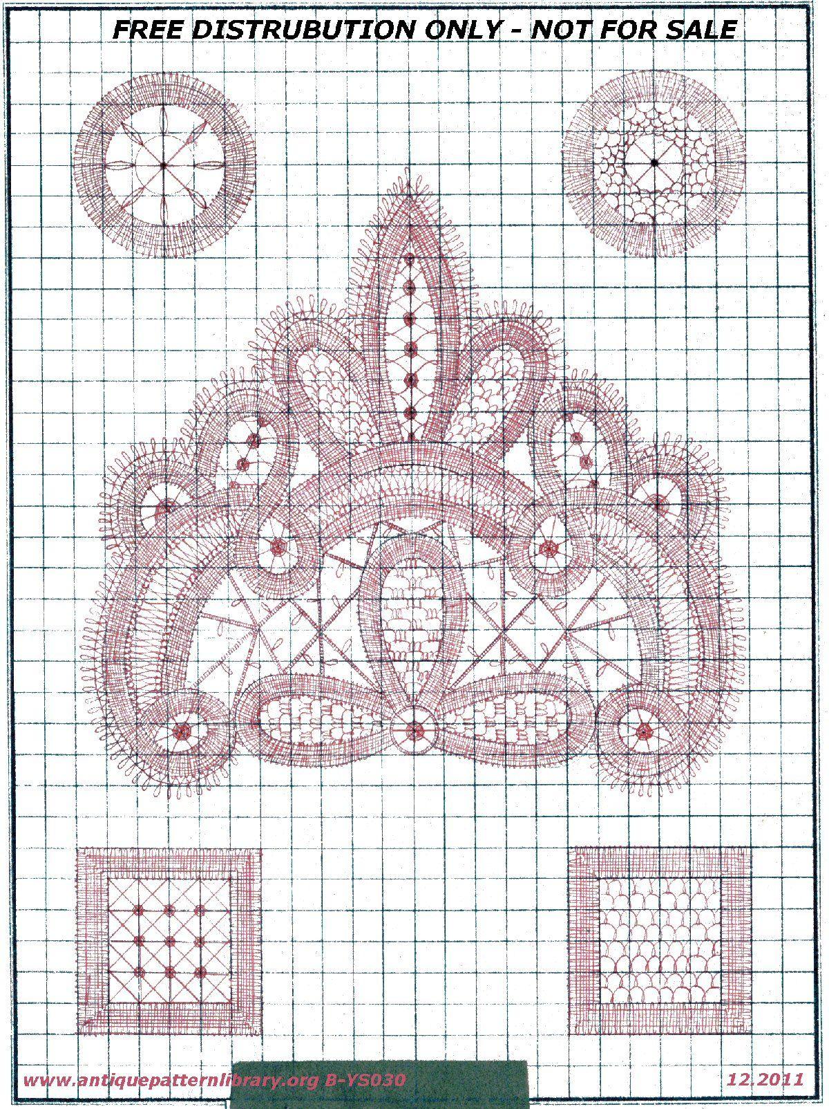 Battenberg Lace Pattern on Antique Pattern Library | Lace ...