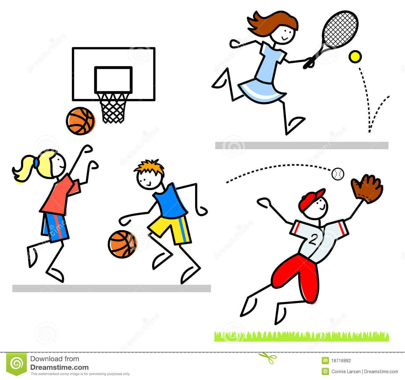 Sports Cartoon Kids/eps Stock Photography - Image: 18716882 (With ...