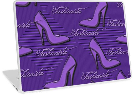 Purple Fashionista Shoe Lovers Pattern | Design available for PC Laptop, MacBook Air, MacBook Pro, & MacBook Retina