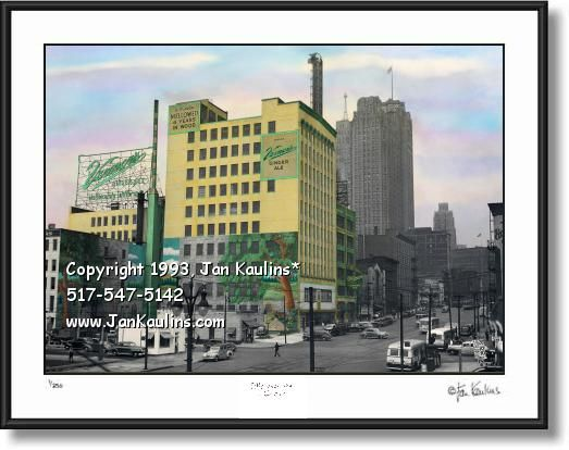 Vernor S Plant Photo Picture Vernor S Detroit Photo Woodland Mural Historic Colours